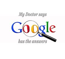 Hypochondriac Google Photographic Print