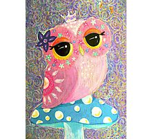 Owl Fairy Princess Photographic Print