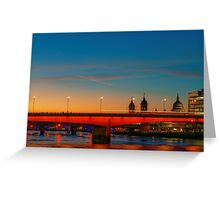London At Twilight, England Greeting Card