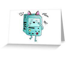 Cat BMO Greeting Card
