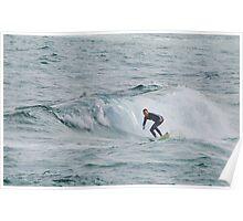 Surfing Newcastle Beach Poster