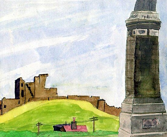 009 - TYNEMOUTH - DAVE EDWARDS - WATERCOLOUR - 1967 (PLEASE NOTE - THIS IS NOT A RECENT PAINTING) by BLYTHART