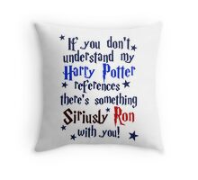 Harry Potter references - light shirt Throw Pillow