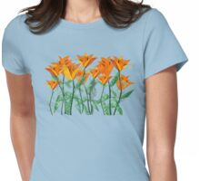 Vibrant Orange Tulips Womens Fitted T-Shirt