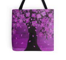 Purple Blossom Tree Design Art Tote Bag