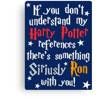 Harry Potter references - dark background Canvas Print