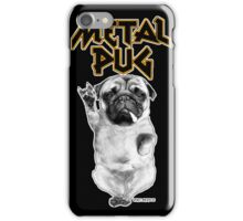 metal pug iPhone Case/Skin