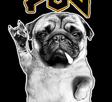 metal pug by darklordpug