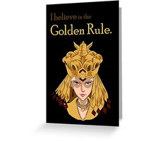 Sailor Galaxia - The Golden Rule Greeting Card