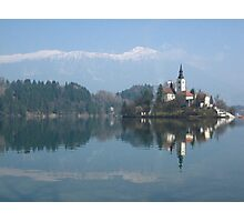 Island in Lake Bled Photographic Print