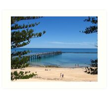 Port Noarlunga Jetty and Pines Art Print