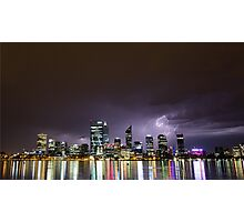 Perth City Storm Photographic Print