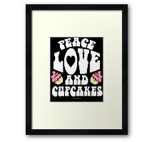 Peace, Love and Cupcakes 60's Style Framed Print