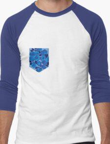 Floral Pattern Pocket 2 Men's Baseball ¾ T-Shirt
