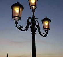 Street Light Against Venice at Sunset by jojobob