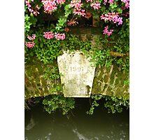 Flowers on Old Bridge Photographic Print