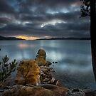 Dawn over North West Bay, Snug, Tasmania by Chris Cobern