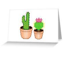 pixel cacti Greeting Card