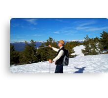 winter sports Canvas Print