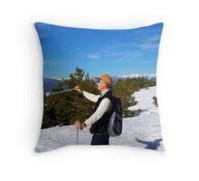 winter sports Throw Pillow