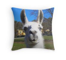 Super llama ! Throw Pillow