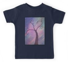 Whimsical Tree Painting Framed Kids Tee
