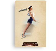 Battlestation Midway, Jessica  Canvas Print