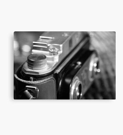 Old stereo camera Canvas Print