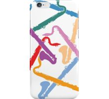 Colorful Bass Clarinets iPhone Case/Skin