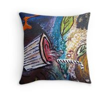 Caught Out On A Windy Day Section 2 by Heather Holland Throw Pillow