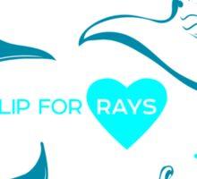 Love Manta - I Flip for Rays Sticker