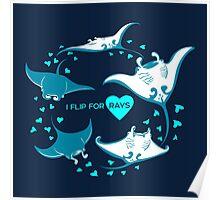 Love Manta - I Flip for Rays Poster