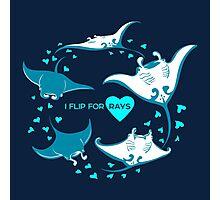 Love Manta - I Flip for Rays Photographic Print