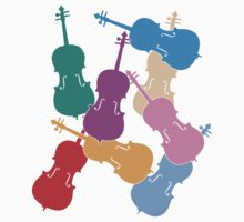 Colorful Cellos One Piece - Short Sleeve