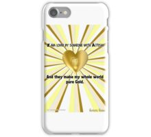 Our Love is Pure Gold iPhone Case/Skin