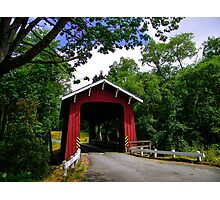 Brookwood Covered Bridge, Bayside, California Photographic Print