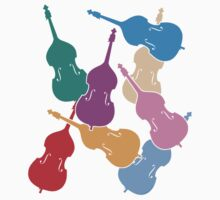 Colorful Double Basses Kids Tee