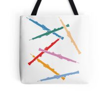 Colorful Oboes Tote Bag