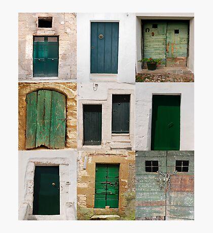Ten Green Doors   Photographic Print