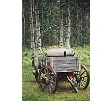 Uncovered Wagon Photographic Print