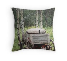 Uncovered Wagon Throw Pillow