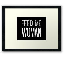 Feed Me Woman in White Framed Print