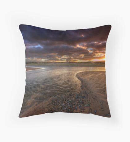 The River at Sunrise Throw Pillow