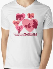 Love Animals - Land Animal Career Mens V-Neck T-Shirt