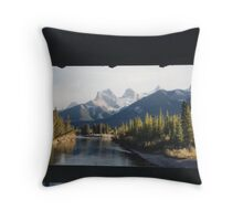 Three Sisters Mountain Throw Pillow