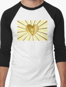 Golden Hearted Men's Baseball ¾ T-Shirt
