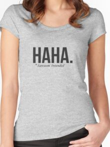 HAHA. Women's Fitted Scoop T-Shirt