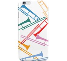 Colorful Trombones iPhone Case/Skin