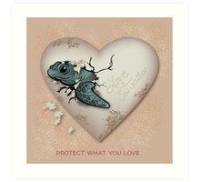 Love Sea Turtles - Egg Heart Art Print