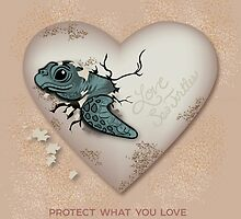 Love Sea Turtles - Egg Heart by PepomintNarwhal